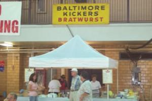 Selling Bratwurst at the Oktoberfest