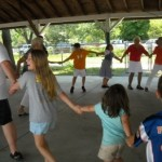 Doing the chicken dance at the Great German American Picnic