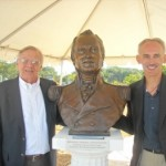 Bust of Gen. John Stricker at North Point Battlefield dedication