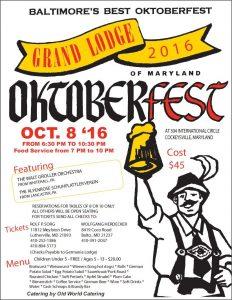 2016 Grand Lodge Oktoberfest